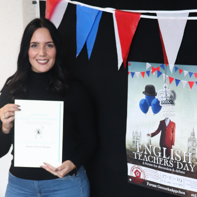 Photo of Diana Oliveira Borges, the Highly Commended of the 2019 J.B. Kremer Young Teacher Award