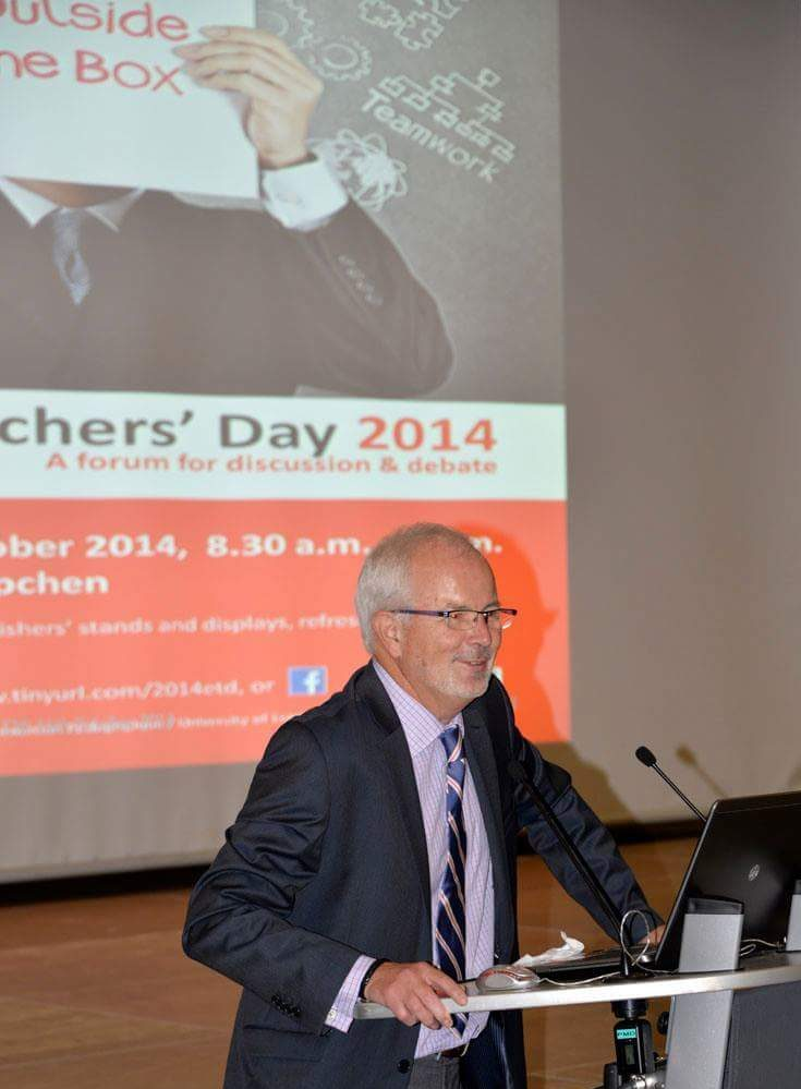 Jean Baptiste Kremer introducing the English Teachers' Day in 2014.